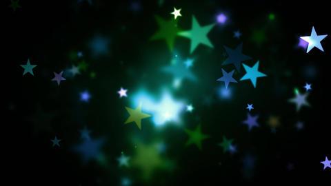 Colorful Holidays Shining Stars Animation