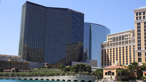 2 angles - daytime of cosmopolitan and bellagio Footage