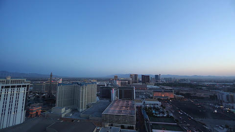 wide penthouse early evening of las vegas strip Stock Video Footage