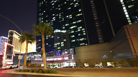 view of las vegas from a car view Stock Video Footage