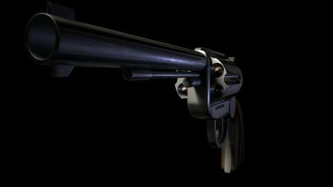 pistol animated pan around Stock Video Footage