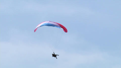 acrobatic paragliding 13 Stock Video Footage