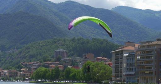 acrobatic paragliding landing 01 (4K) Footage
