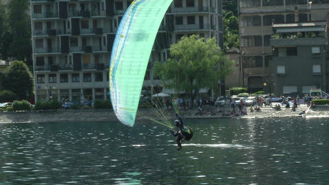 acrobatic paragliding synchro green 31 (slow motio Footage