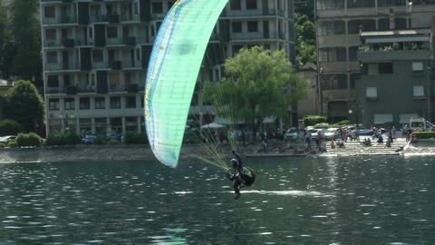 acrobatic paragliding synchro green 31 (slow motio Footage