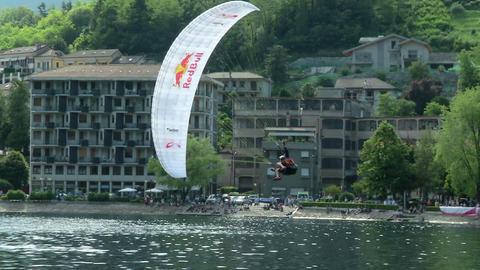 acrobatic paragliding synchro white yellow 31 (slo Footage