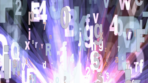 Letters And Numbers Animation stock footage