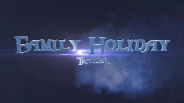 Family Holiday Trailer After Effects Template