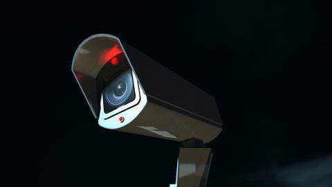 surveillance camera front pan across Stock Video Footage