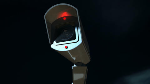 surveillance camera front pan across Animation