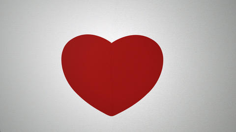 paper tear heart top animation Animation