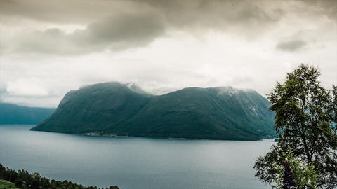 Landscape Timelapse, Langfjorden, Norway Footage