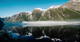 4K Landscape Timelapse, Eikesdalsvatnet, Norway Footage