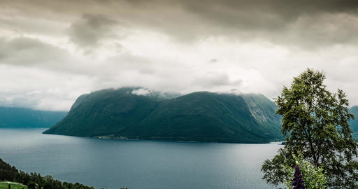 4K Landscape Timelapse, Langfjorden, Norway Stock Video Footage