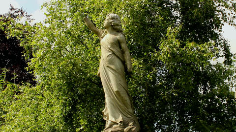 Monumental, Statue Of A Woman Without Hands On A B stock footage