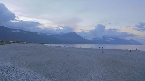 breath taking sunset at Qixintan Beach, Hualien Footage