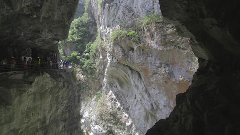 georgous dolly shot of liwu river and rockcliffs v Footage