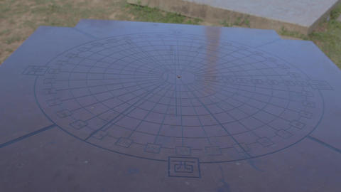 Tropic of cancer Mark in Rueisuei - compass pan Footage