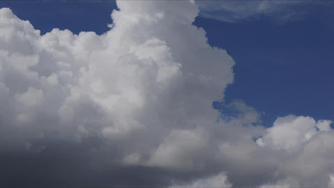 White Cumulus Clouds Time Lapse 4K+ Stock Video Footage