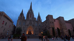 Cathedral in Barcelona Footage