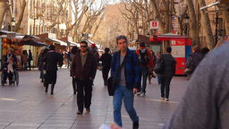 La Rambla in Barcelona Footage
