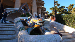 Park Guell in Barcelona Stock Video Footage