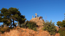 Park Guell in Barcelona Footage