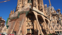 Sagrada Familia Church in Barcelona Footage