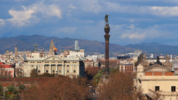 Columbus Monument in Barcelona Footage