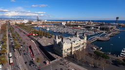 Port in Barcelona Stock Video Footage