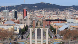 Placa Espanya In Barcelona stock footage