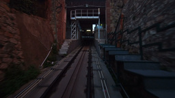Vallvidrera Funicular Stock Video Footage