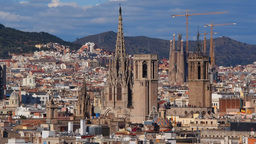 Cityscape of Barcelona Footage