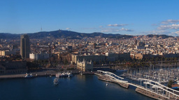 Port in Barcelona Footage
