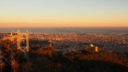 Sunset in Barcelona Footage