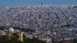 Dusk In Barcelona stock footage
