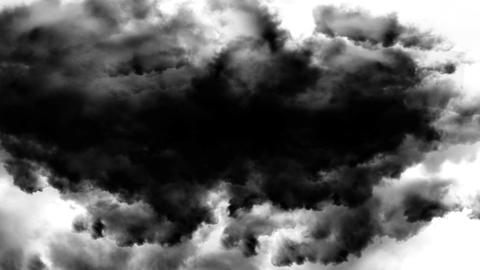 Black Clouds stock footage