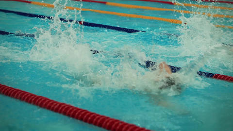 freestyle swimming Stock Video Footage