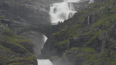 1080p, Waterfall, Trollstigen, Norway Footage