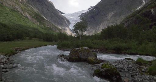4K, Norway, Brikdalsbreen Glacier Footage