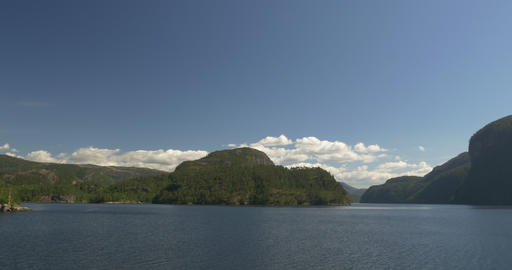 4K, Norway, Epic view on a Fjord Stock Video Footage