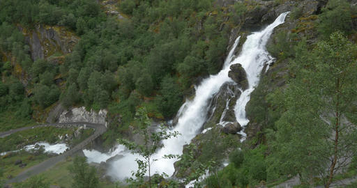 4K, Norway, Epic and beautiful waterfall Footage