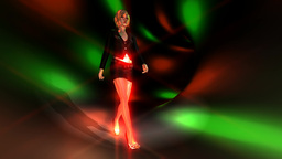 Animation Of A Walking Girl stock footage