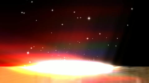 Cosmic Animation Of Floating Stars stock footage