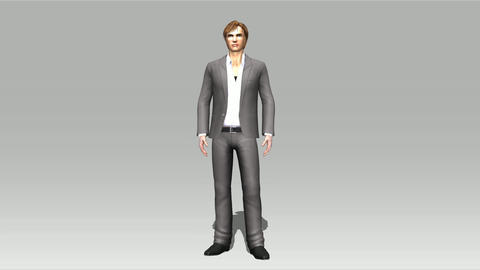 Animation Of A Posing Man stock footage