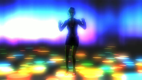 Animation of a dancing Girl Stock Video Footage