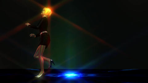 Animation of a dancing Girl Animation
