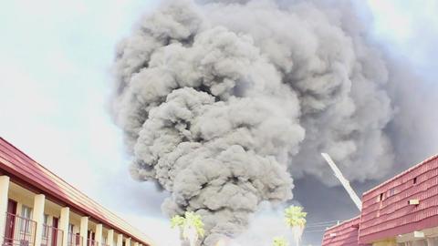 house Fire-Flames and heavy Smoke 영상물