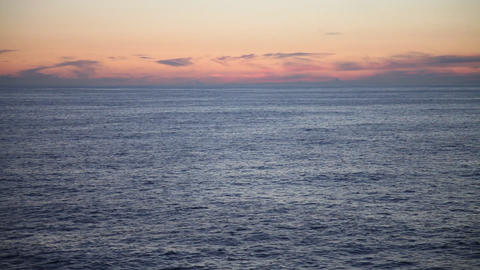 Midnight sun at North Sea Footage