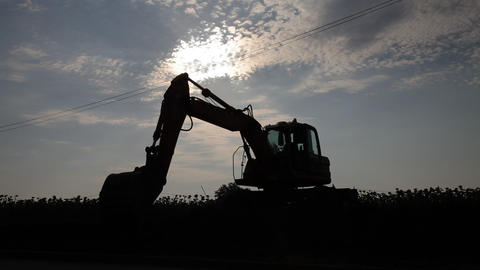 Excavator Activity stock footage